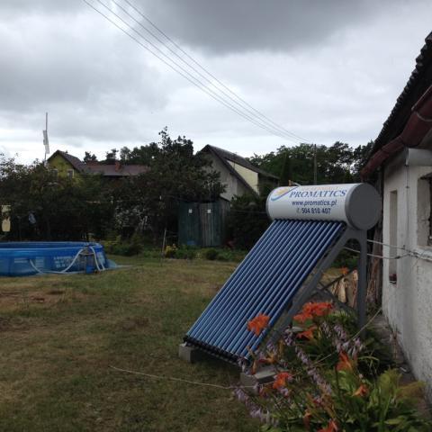 Montaż zestawu solarnego Unite – Kąty Rybackie gm. Sztutowo
